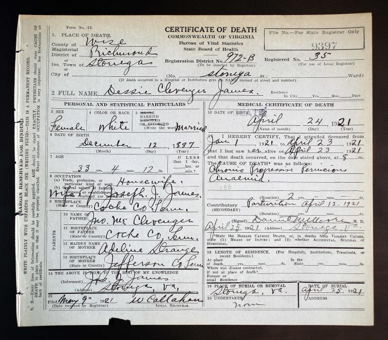 Virginia, Death Records, 1912-2014
